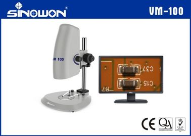 China Laboratory Zoom Digital Video Microscope System With Coarse Fine Adjustment 200X supplier
